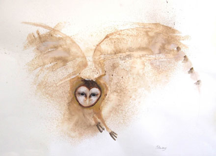 Owl painting by Carol Chapel