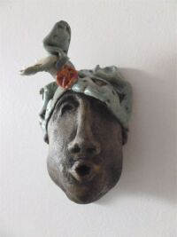 Ceramic Clay Face 2 by Andrea Peyton