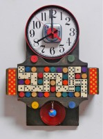 Domino Clock by Ann Durley
