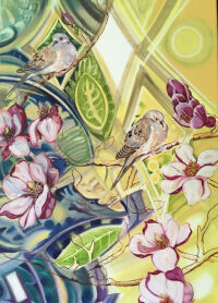 Doves in the Tulip Tree by Christine Hannegan