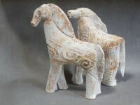 Ceramic Horses by Gerard Brehm