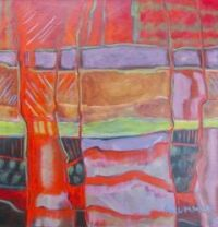 Strata in Red by Marla Brummer
