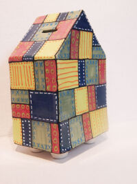 Patchwork Hou$5se Bank by Michelle Mills