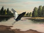 Riverview Heron by Richard Bunse